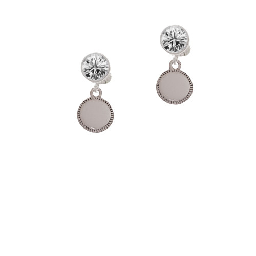 12mm Blank Disc with Flange Clear Crystal Clip On Earrings