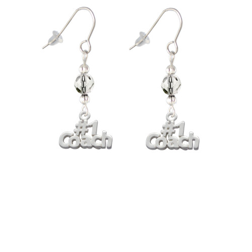 #1 Coach Clear Bead French Earrings