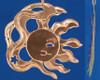 Verdigris Copper Moon Sun Ornament inset