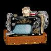 Sewing Machine Glass Ornament