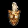 Mini Glass Halloween Ornaments owl