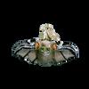 Mini Glass Halloween Ornaments bat