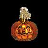 Mini Glass Halloween Ornaments shiny pumpkin