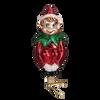 Christmas Pixie Clip On Glass Ornament