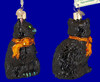 Black Cat Glass Halloween Ornament by Old World Christmas 26033 inset