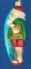 Santa Surfer Old World Christmas Glass Ornament 40060 inset
