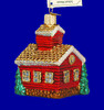 School House Old World Christmas Glass Ornament 20007 inset