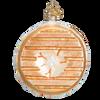 Bagel Glass Ornament back