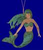 Verdigris Copper Mermaid Ornament