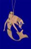 Verdigris Copper Mermaid Ornament inset back