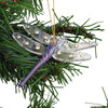 Dragonfly Mouth-Blown Egyptian Glass Ornament on tree