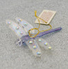 Dragonfly Mouth-Blown Egyptian Glass Ornament on glitter sheet