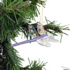 Dragonfly Mouth-Blown Egyptian Glass Ornament on tree side