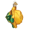 Yellow Rose Glass Ornament 36250 Old World Christmas side