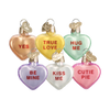 Valentine Heart Candy Glass Ornament
