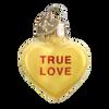 Valentine Heart Candy Glass Ornament true love