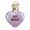 Valentine Heart Candy Glass Ornament be mine