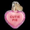 Valentine Heart Candy Glass Ornament cutie pie