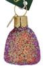 Gumdrop Glass Ornament Plum
