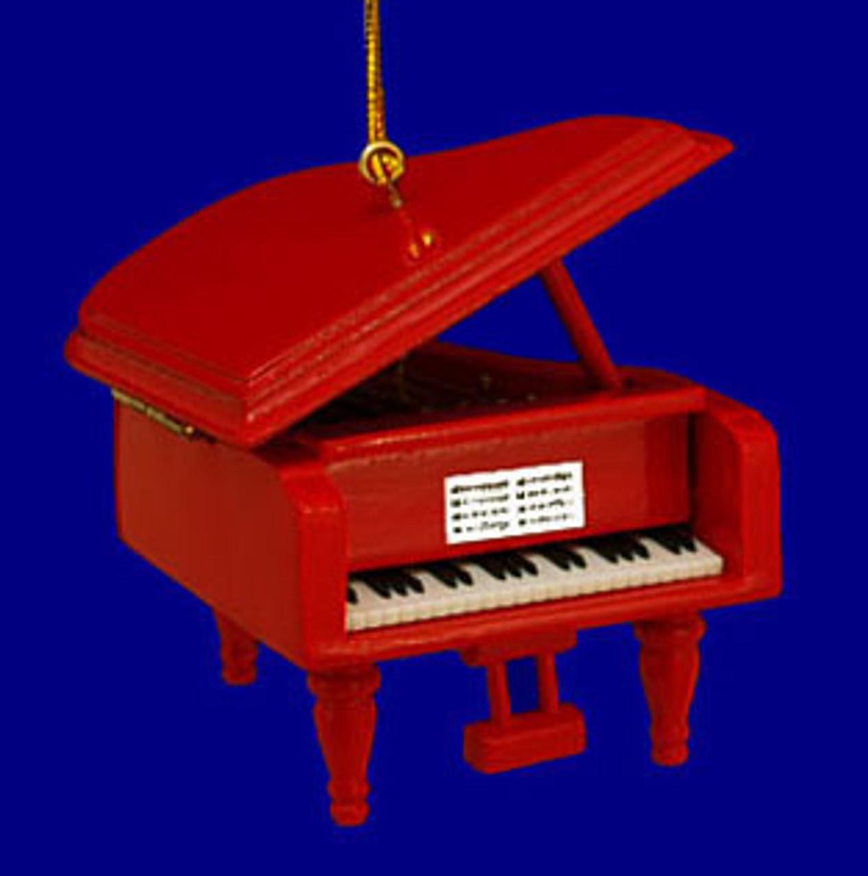 Kurt Adler 3 Wood Piano Ornament