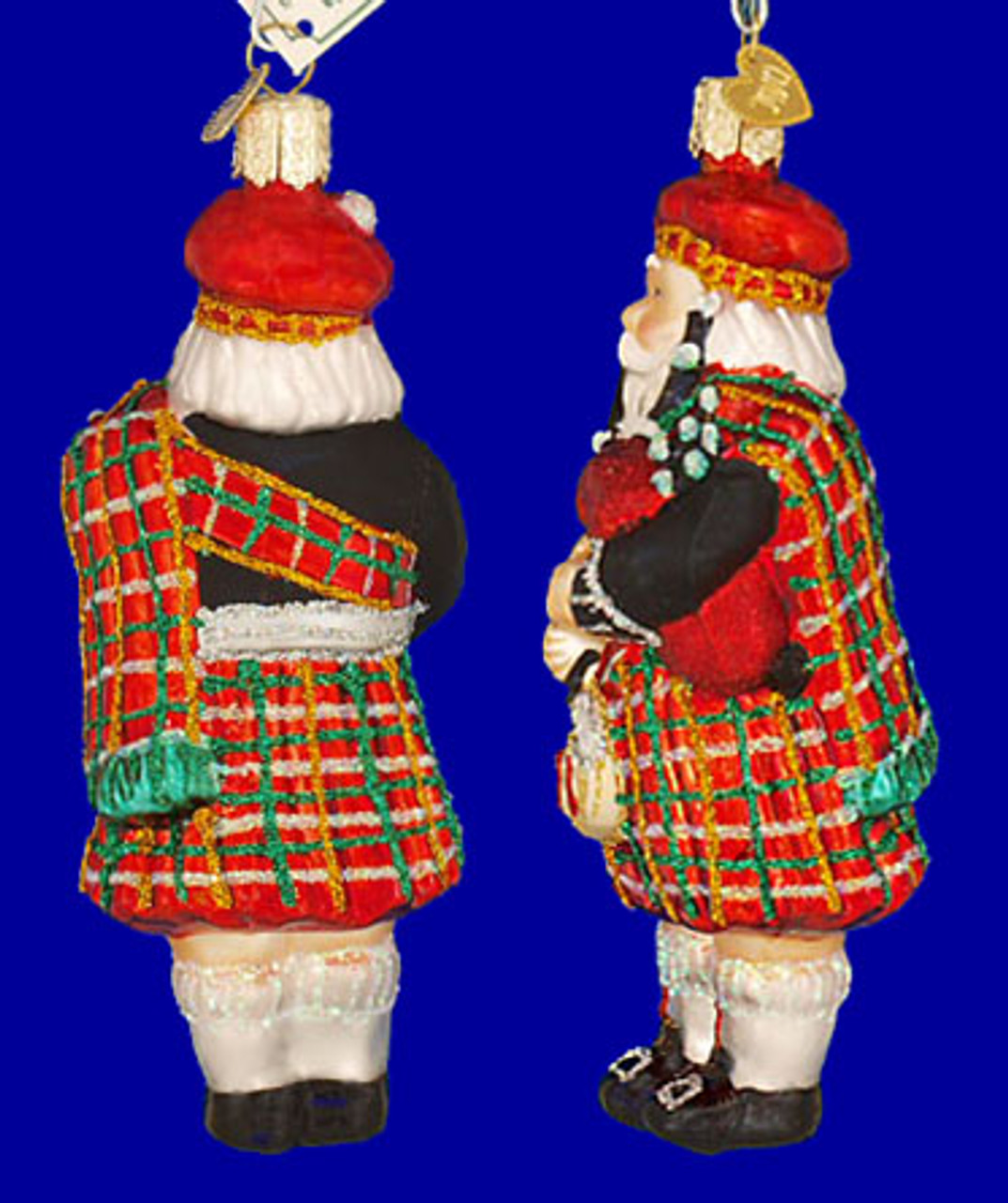 Scottish Highland Bagpipes Player Glass Ornament - Old ...
