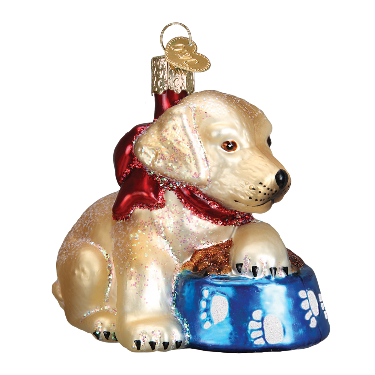 Labrador Retriever Puppy Glass Ornament By Old World Christmas