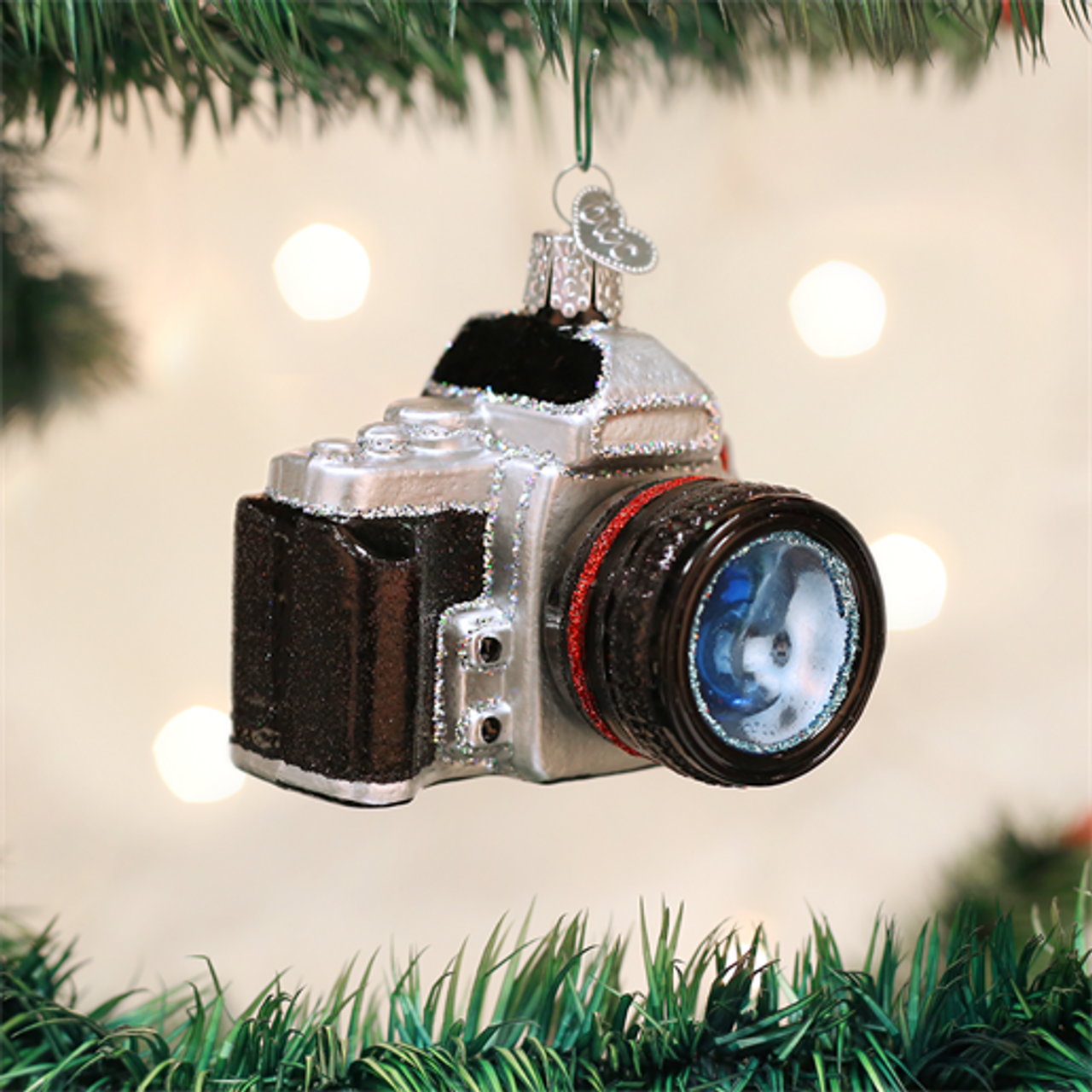 Camera Glass Ornament by Old World Christmas