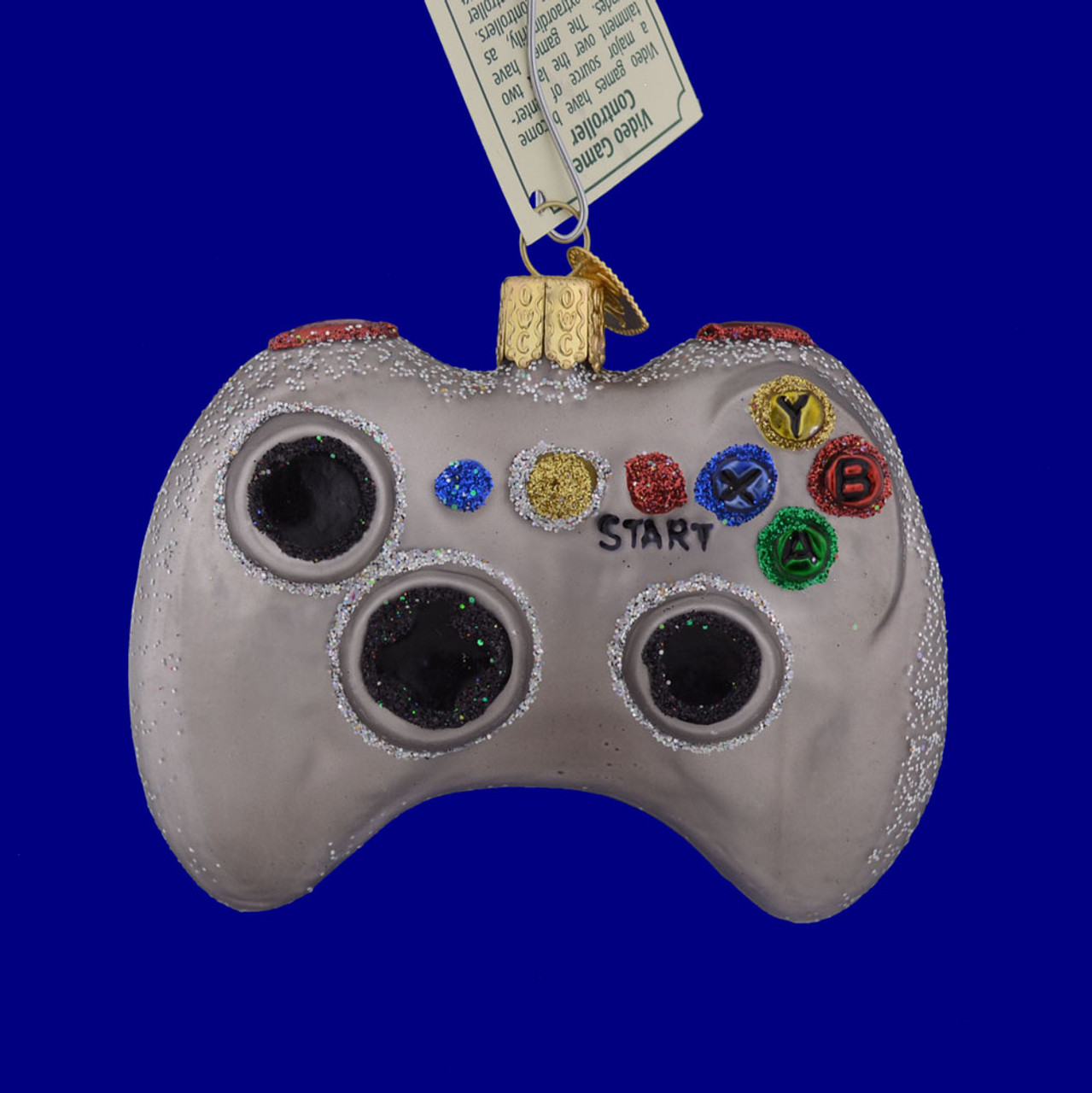 Video Game Controller Glass Ornament by Old World Christmas