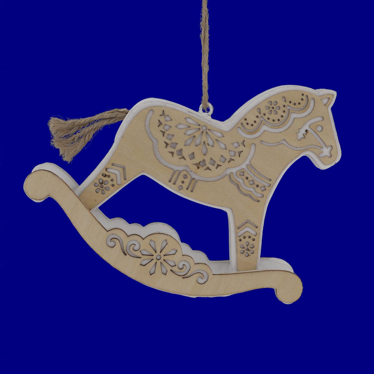 Layered Wood Rocking Horse Ornament