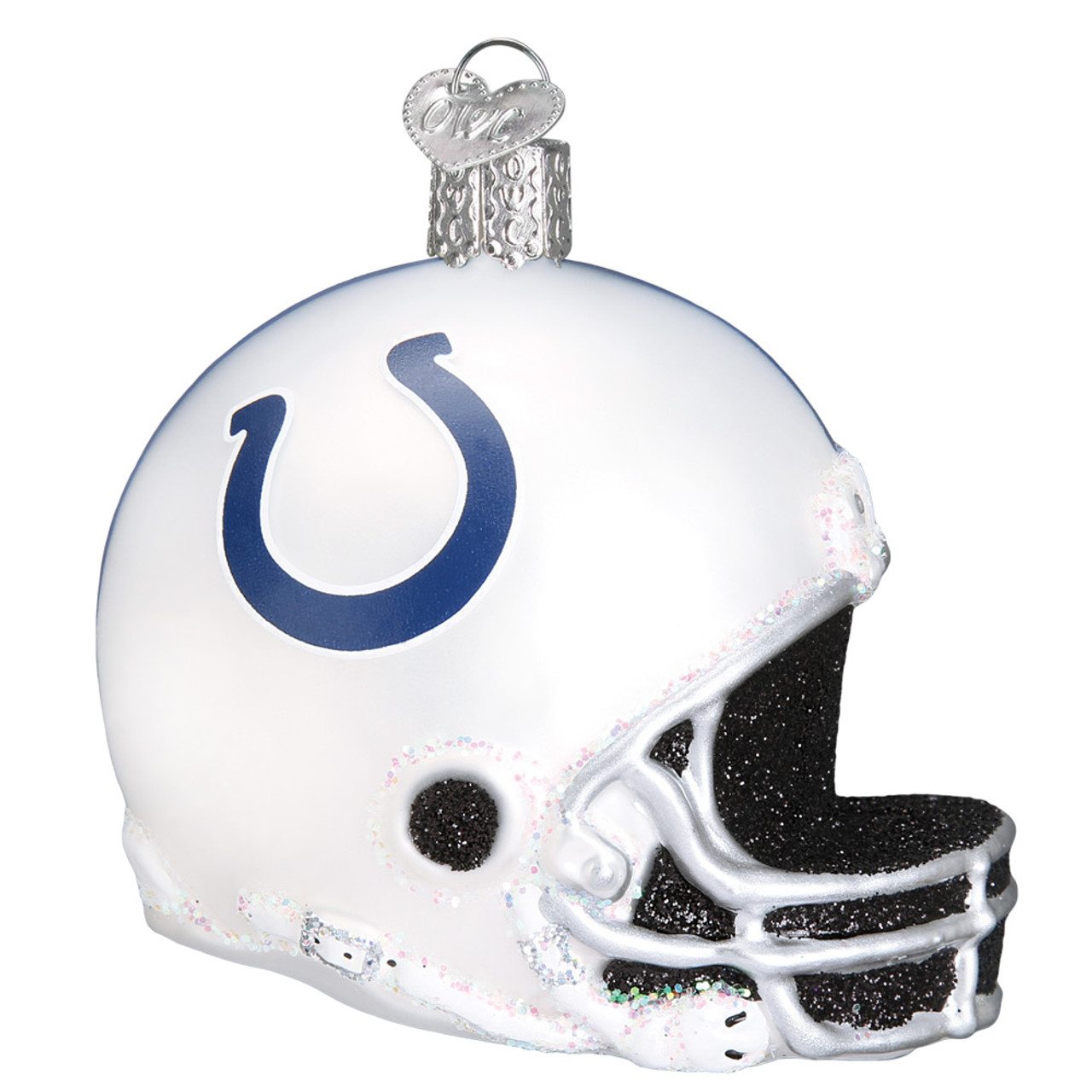 Indianapolis Colts Nfl Helmet Glass Ornament 3 1 4 Owc 71417