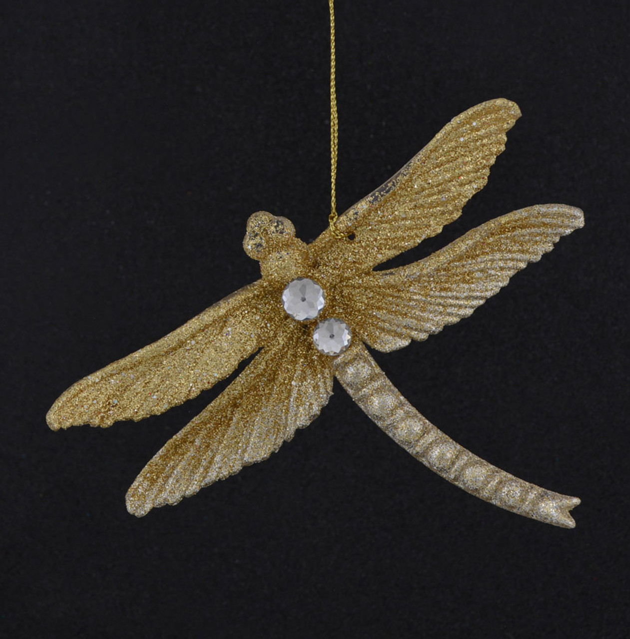 Large Gold Glitter Dragonfly for decoration