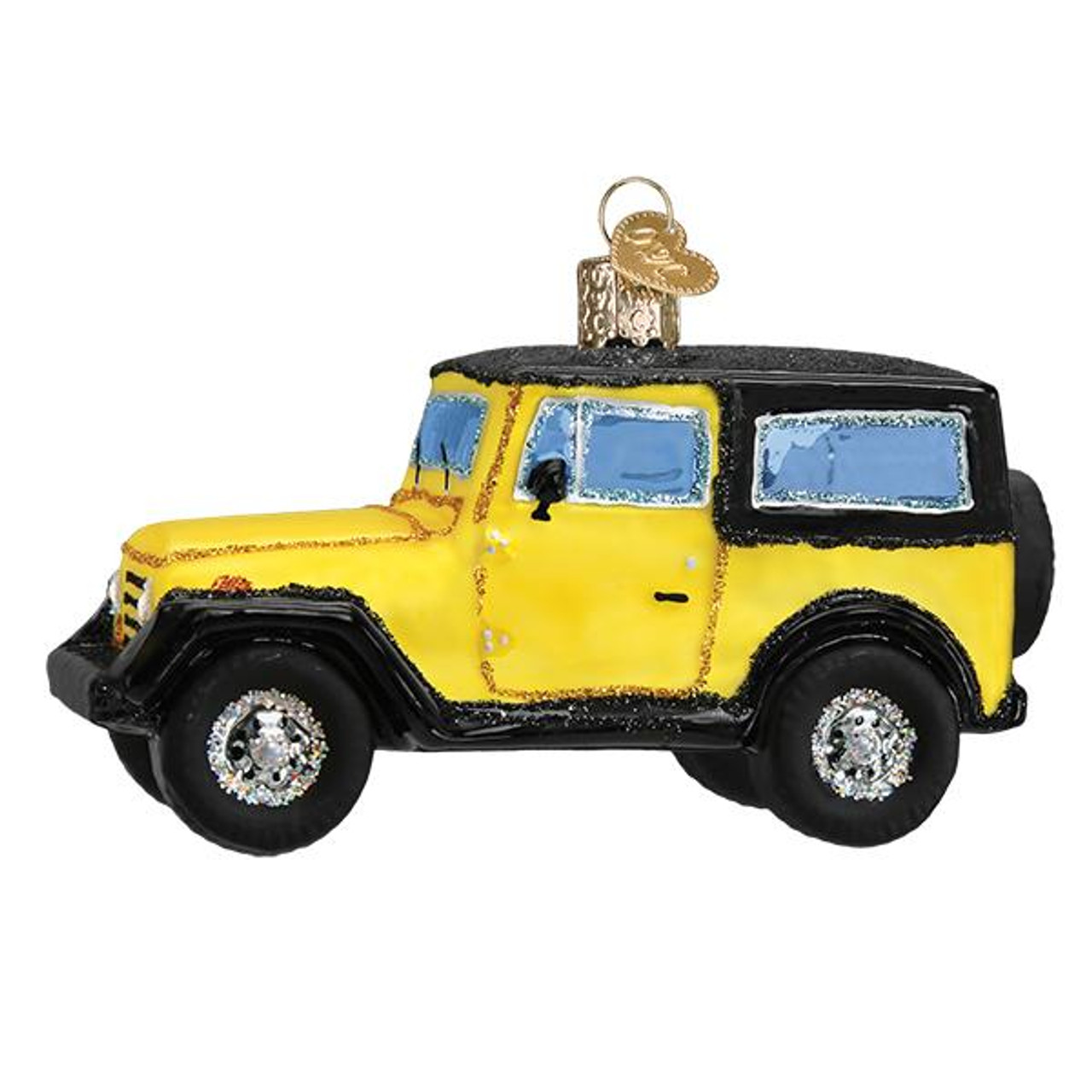 Jeep Christmas Ornament.Compact Sport Utility Vehicle Glass Ornament 4 1 2 Owc 46083