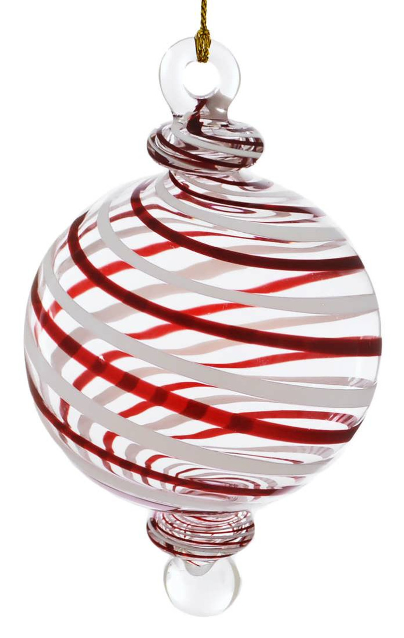 RED MOUTH WHISTLE EUROPEAN BLOWN GLASS CHRISTMAS TREE ORNAMENT SPORTS