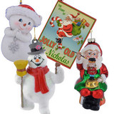 Santa, Elf, Snowman