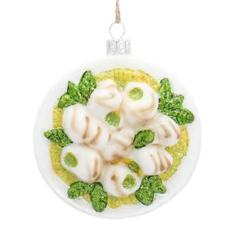 Escargot Platter Glass Ornament