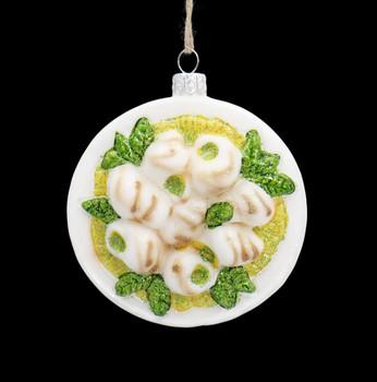 Escargot Platter Glass Ornament Front