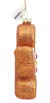 Yoga Gingerbread Glass Ornament Side