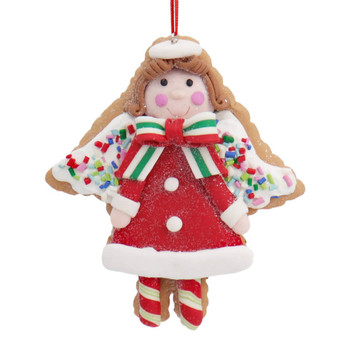 Winter Holiday Cut Out Angel Cookie Ornament