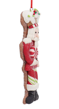 Winter Holiday Cut Out Nutcracker Cookie Ornament Side