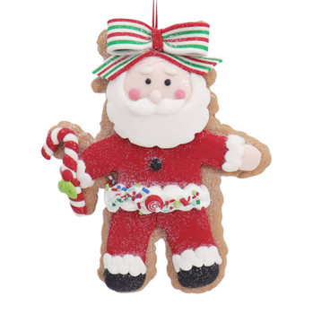 Winter Holiday Cut Out Santa Cookie Ornament