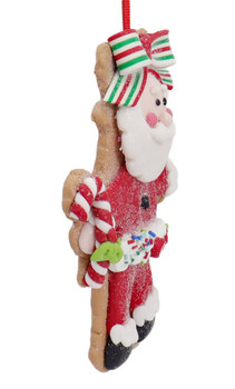 Winter Holiday Cut Out Santa Cookie Ornament Side