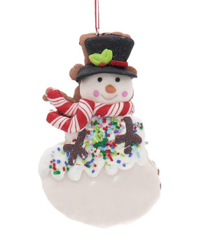 Winter Holiday Cut Out Snowman Cookie Ornament