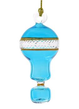 Small Hot Air Balloon Mouth-Blown Egyptian Glass Ornament