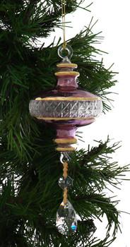 Short Sphere Egyptian Glass Ornament - Purple Garland 1