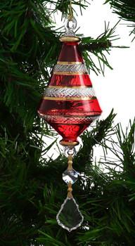 Short Sphere Egyptian Glass Ornament - Blue Garland 1