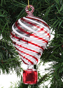 Red, White Striped Hot Air Balloon Egyptian Glass Ornament garland