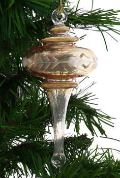 Long Finial Egyptian Glass Ornament - Yellow Garland 1