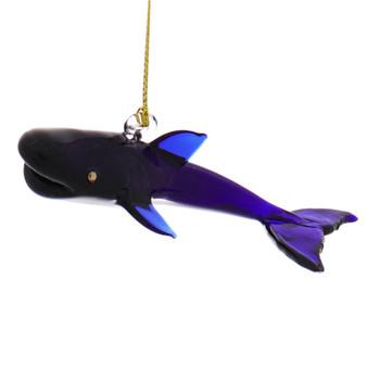 Blue Whale Egyptian Glass Ornament