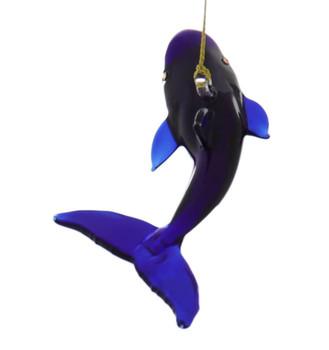 Blue Whale Egyptian Glass Ornament back