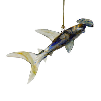 Hammerhead Shark Egyptian Glass Ornament Right Side
